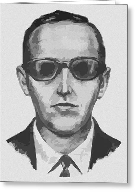 Hijacker Greeting Cards - DB Cooper Greeting Card by War Is Hell Store