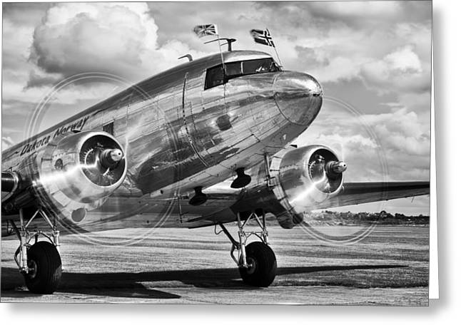 Dc-3 Greeting Cards - DC-3 Dakota Greeting Card by Ian Merton