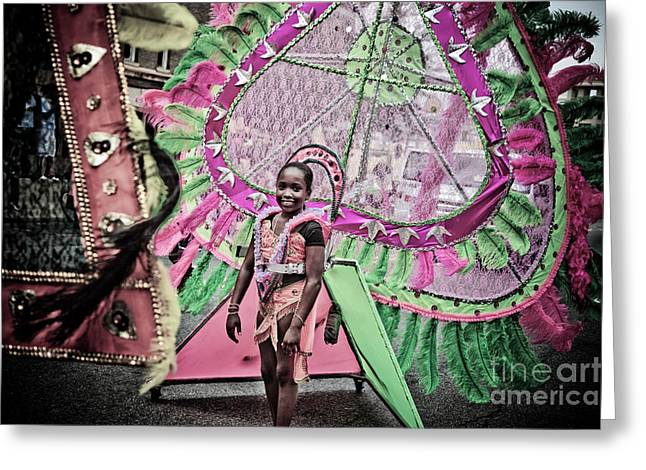 Dc Caribbean Carnival Greeting Cards - DC Caribbean Carnival No 14 Greeting Card by Irene Abdou
