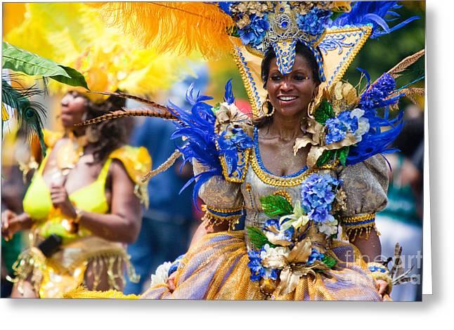 Dc Caribbean Carnival Greeting Cards - DC Caribbean Carnival No 19 Greeting Card by Irene Abdou