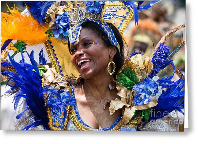 Dc Caribbean Carnival Greeting Cards - DC Caribbean Carnival No 20 Greeting Card by Irene Abdou