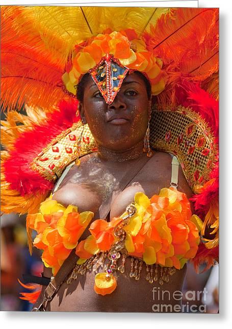 Dc Caribbean Carnival Greeting Cards - DC Caribbean Carnival No 23 Greeting Card by Irene Abdou