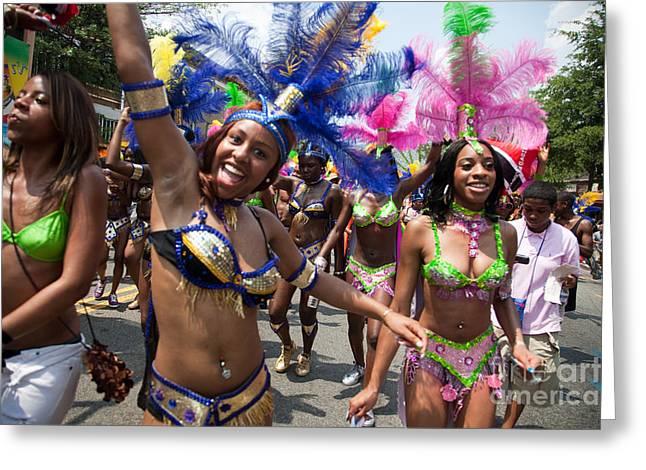 Dc Caribbean Carnival Greeting Cards - DC Caribbean Carnival No 8 Greeting Card by Irene Abdou