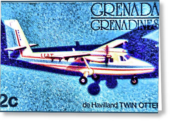 Paper Airplanes Paintings Greeting Cards - de Havilland TWIN OTTER Greeting Card by Lanjee Chee