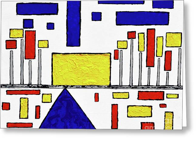 De Stijl My Beating Heart Greeting Card by Alys Caviness-Gober