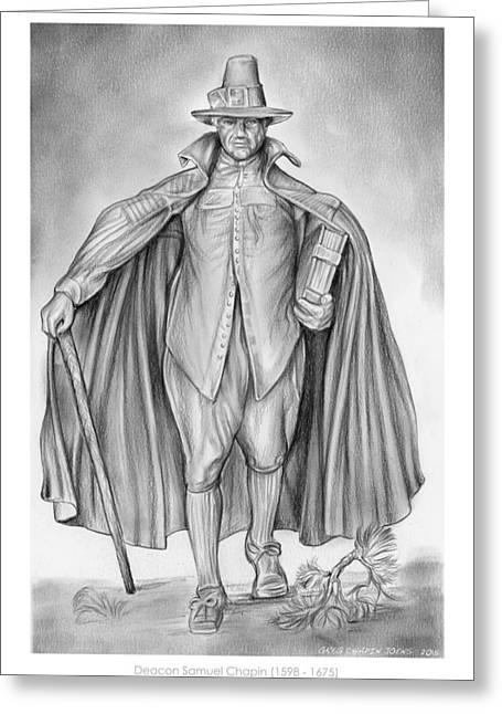 Deacon Samuel Chapin Greeting Card by Greg Joens