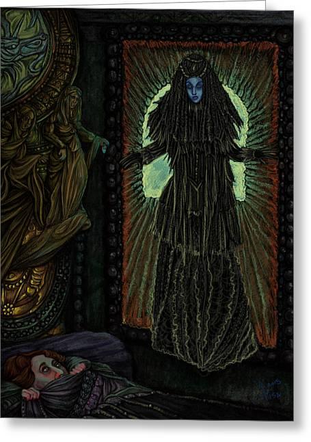 Creepy Digital Art Greeting Cards - Dead Brides Revenge Greeting Card by Lisa Bethan