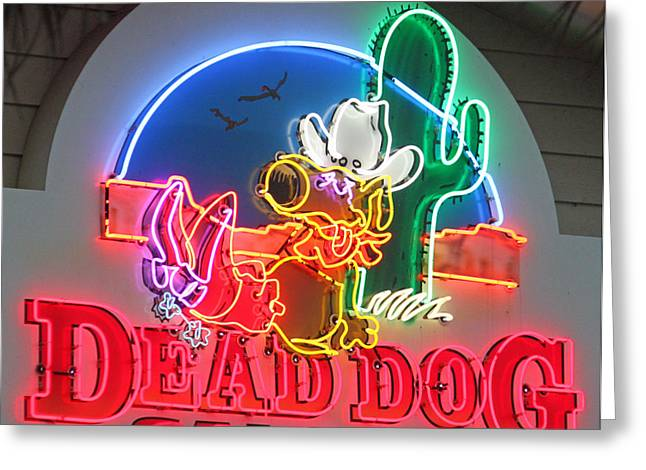 Saloons Greeting Cards - Dead Dog Saloon Greeting Card by Suzanne Gaff