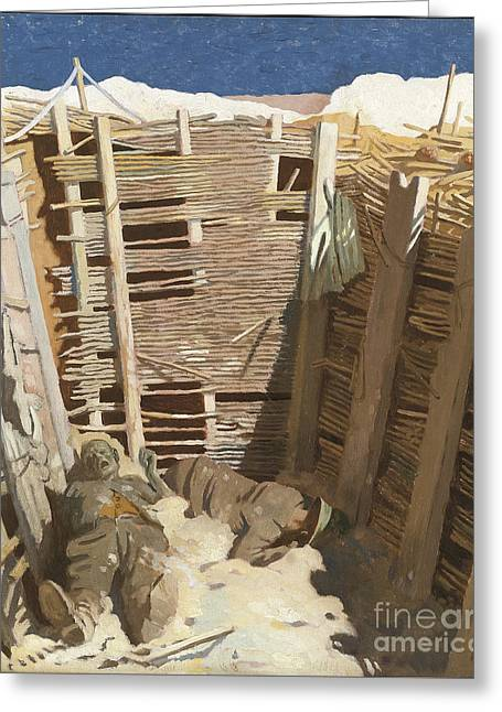 Dead Germans In A Trench Greeting Card by Celestial Images