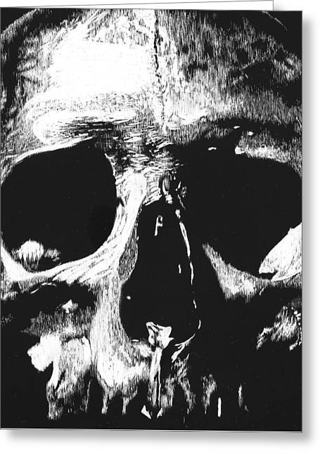 Dead Sculptures Greeting Cards - Dead Head Greeting Card by Justin Reding