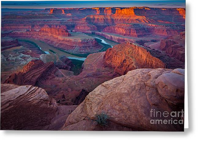 Dead Horse Point Dawn Greeting Card by Inge Johnsson