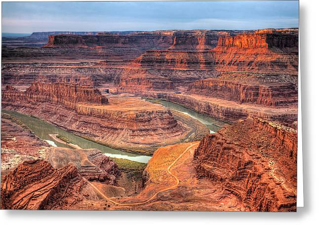 Dead Horse Point Greeting Cards - Dead Horse Point  Greeting Card by Paul Basile