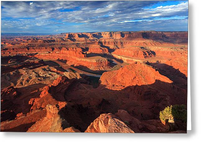 Dead Horse Point Greeting Cards - Dead Horse Point Sunrise Greeting Card by Karma Boyer