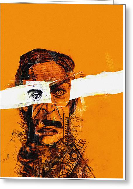 Pen And Paper Greeting Cards - Dead Man Orange Greeting Card by Nicholas Ely