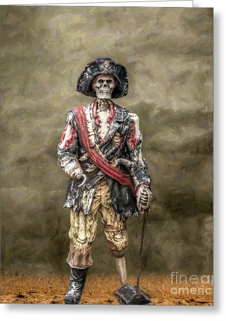 Peg Greeting Cards - Dead Men Tell No Tales Greeting Card by Randy Steele