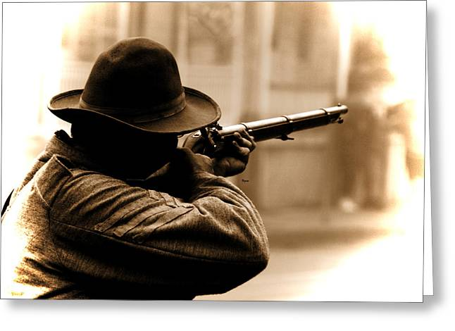 Reenactor Greeting Cards - Deadeye Dillon  Greeting Card by Steven  Digman