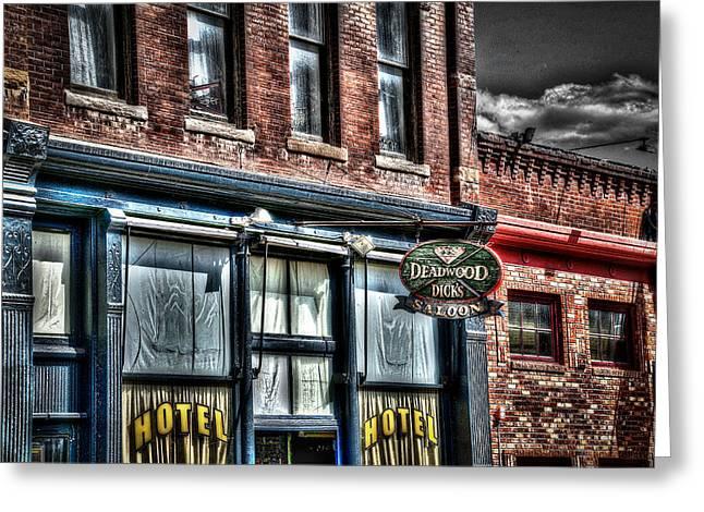 Deadwood Dicks Saloon Greeting Card by Deborah Klubertanz