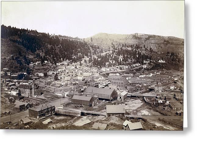 Shootist Greeting Cards - Deadwood South Dakota  1888 Greeting Card by Daniel Hagerman