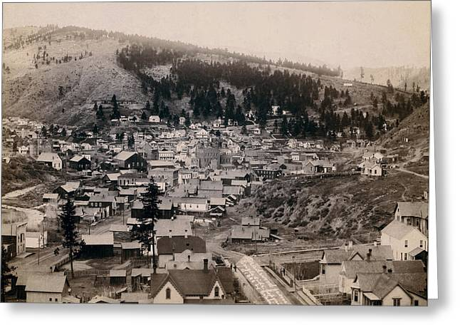 Shootist Greeting Cards - Deadwood South Dakota 1888 - No. 3 Greeting Card by Daniel Hagerman