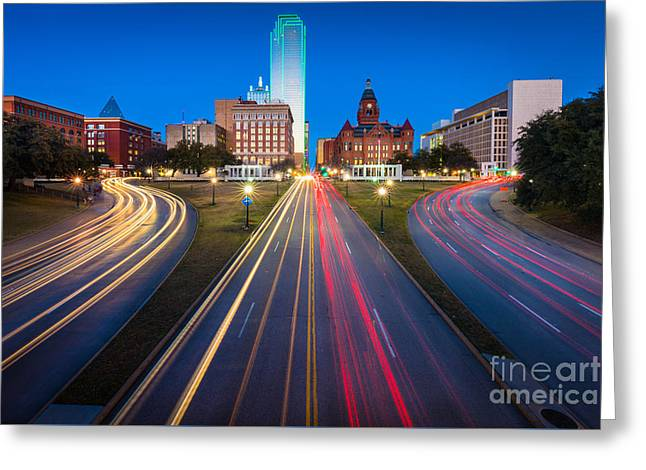 Dealy Plaza Greeting Card by Inge Johnsson
