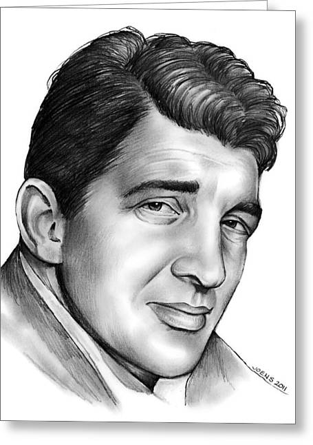 Dean Martin Greeting Card by Greg Joens