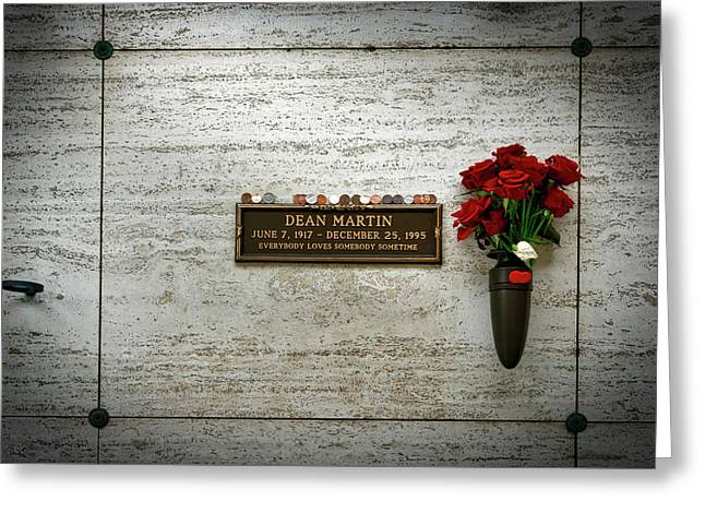Dean Martin's Final Resting Place Greeting Card by Mountain Dreams