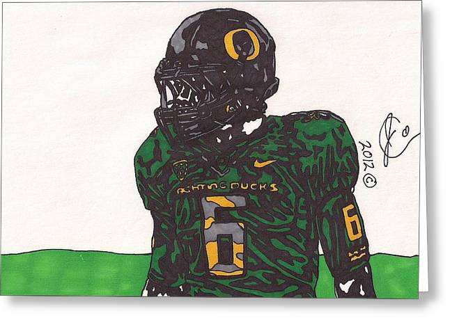 De'anthony Thomas 2 Greeting Card by Jeremiah Colley