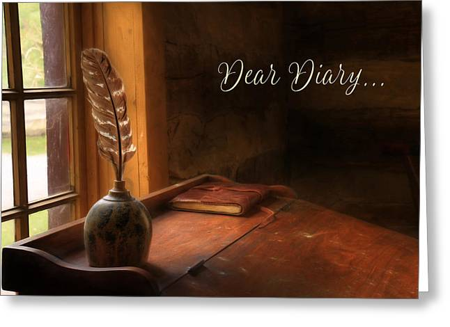 Dear Diary Greeting Card by Lori Deiter