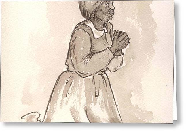 Dear God... Greeting Card by Barbel Amos