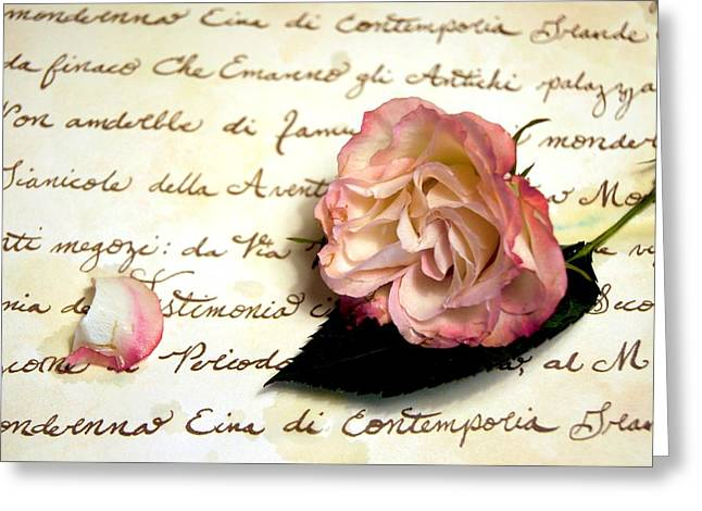 Reassurance Greeting Cards - Dear Rose Greeting Card by Kathy Bucari