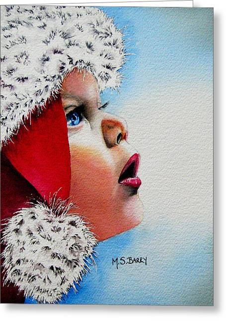 Children Greeting Cards - Dear Santa Greeting Card by Maria Barry