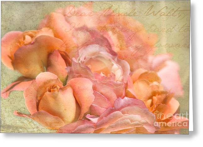 Rose Petals Mixed Media Greeting Cards - Dear Uncle Walt Greeting Card by Cindy Garber Iverson