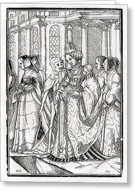 Bale Drawings Greeting Cards - Death Comes For The Empress After Hans Greeting Card by Vintage Design Pics