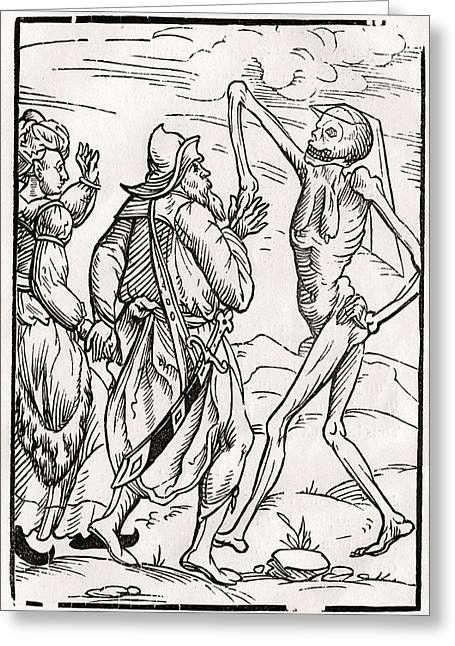 Bale Drawings Greeting Cards - Death Comes For The Unbelieving Husband Greeting Card by Vintage Design Pics