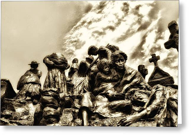 Philadelphia Photographs Greeting Cards - Death in the time of the Irish Famine Greeting Card by Bill Cannon