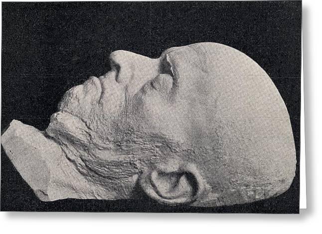 Menzel Greeting Cards - Death Mask Of Adolph Friedrich Erdmann Greeting Card by Ken Welsh