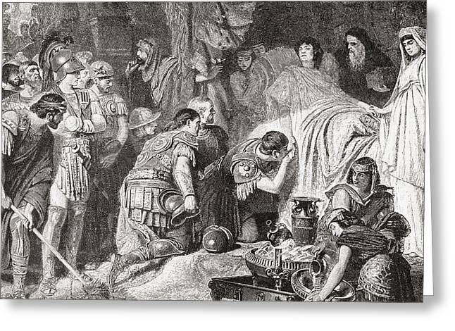Babylon Greeting Cards - Death Of Alexander The Great At Babylon Greeting Card by Vintage Design Pics