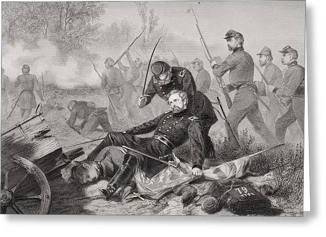 Engagement Picture Greeting Cards - Death Of General Isaac Stevens During Greeting Card by Ken Welsh