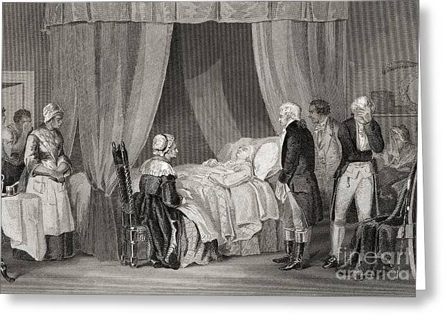 Death Of Washington December 1799 Greeting Card by American School
