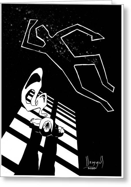 Killer B Greeting Cards - Death Greeting Card by Sebastian Szmyd