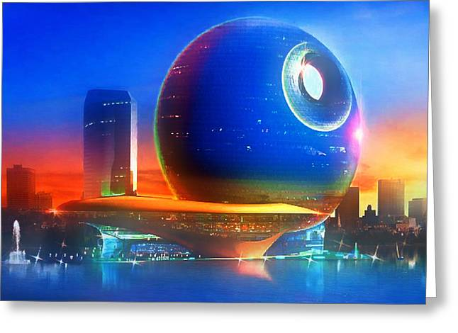Photo Art Gallery Greeting Cards - Death Star Decomissioned Greeting Card by Mario Carini