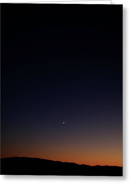 Darkness Greeting Cards - Death Valley - Last Light on the Desert Greeting Card by Christine Till