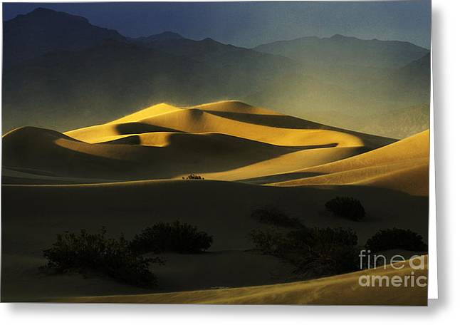 Death Valley California Symphony Of Light 4 Greeting Card by Bob Christopher