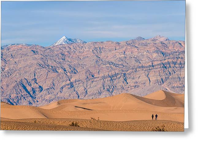 Panamint Valley Greeting Cards - Death Valley Layers Greeting Card by Joseph Smith