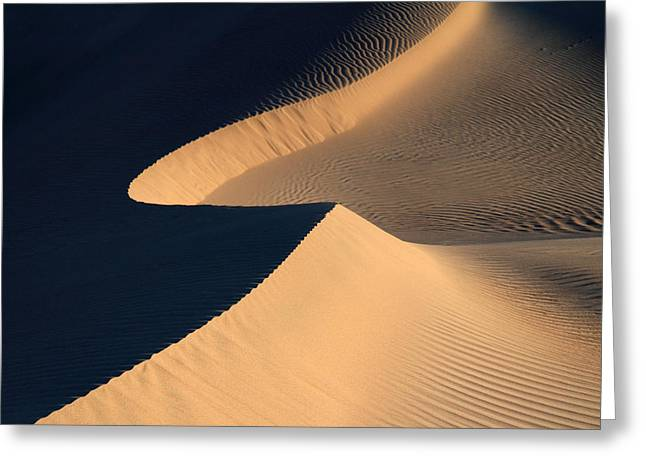 Mountain Road Greeting Cards - Death valley sand design Greeting Card by Pierre Leclerc Photography