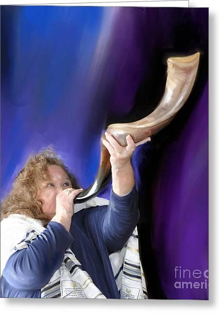 Messianic Art Greeting Cards - Deborah Greeting Card by Denise Warsalla