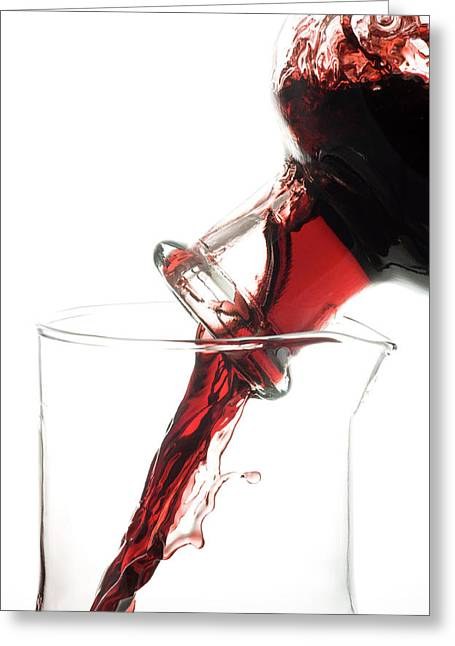 Decanting Red Wine Greeting Card by Frank Tschakert