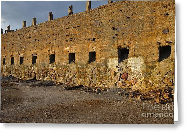 Portugal Greeting Cards - Decayed Mine Structure in Alentejo Greeting Card by Angelo DeVal