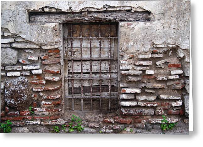 Grate Greeting Cards - Decaying Wall and Window Antigua Guatemala 2 Greeting Card by Douglas Barnett