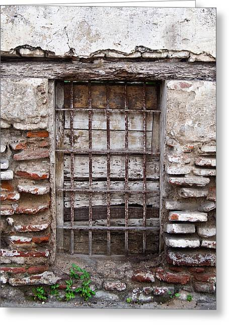 Lintel Greeting Cards - Decaying Wall and Window Antigua Guatemala 3 Greeting Card by Douglas Barnett